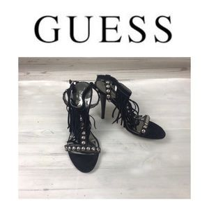 Guess Black Gorgeous Sandals. Sz 6M
